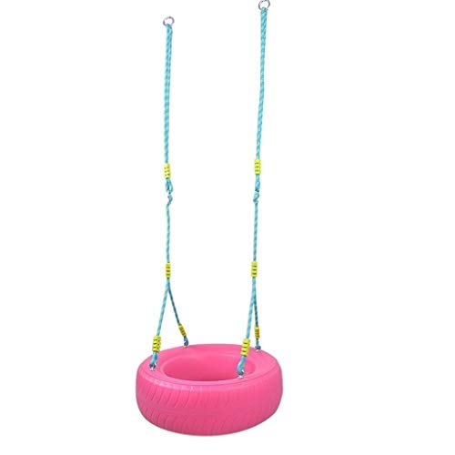 ZPEE Columpios Silla de plástico for niños en Interiores y Exteriores Columpio de plástico Columpio de Juguete for niños Diámetro de 55 cm Diámetro de los niños 4 Colores Asiento de Columpio