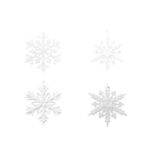 TOYANDONA 23pcs Schneeflockenbehänge Exquisite Schneeflocken dekorative Baumanhänger Ornamente für Weihnachten