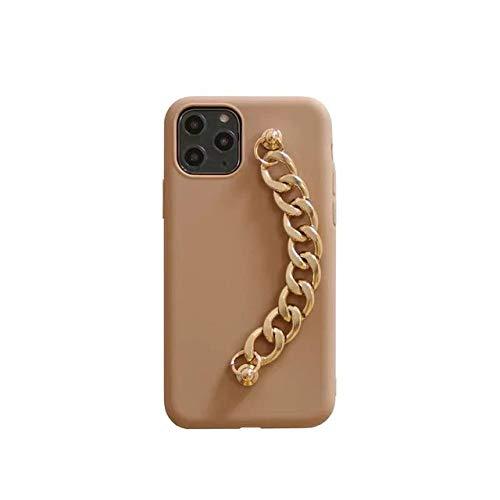 LIUYAWEI Pulsera de Pulsera de Oro Simple de Lujo Funda Suave para teléfono para iPhone X XR XS 12mini 12 11 Pro MAX 7 8 Plus para Samsung S10 8 Funda, 1, para iPhone 6 6S Plus