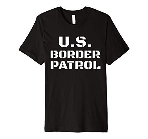 Halloween Border Patrol Costume Immigration Customs Officer Premium T-Shirt