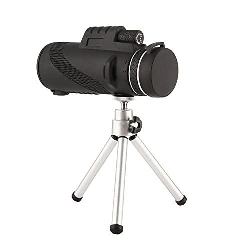 CNmuca Telescópio monocular de alta definição Lente de câmera do telescópio portátil Telescópio de smartphone poderoso Telescópio de bolso preto 20,0 cm x 10,0 cm x 10,0 cm