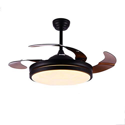 Soffitto del LED Fan Light Fixtures, 42in ventilatori a soffitto Lampada da letto, soggiorno, sala da pranzo composta da motore, a 4 lame, comando a distanza,A