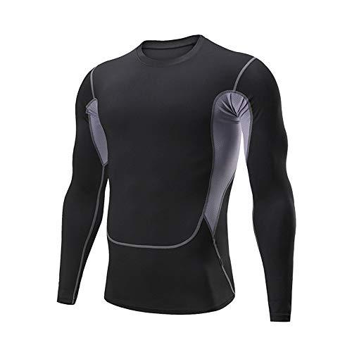 Camiseta Hombre Deportiva Compresión,Manga Larga Fitness De Aptitud Jogging Entrenamiento Baloncesto Tops T-Shirts para Hombre Secado Rápido Transpirable Movimiento Camisetas Basicas