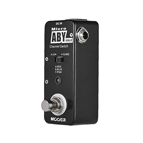 ABY MKII Channel Switch Guitar Effect Pedal True Bypass Full Metal Shell Instrument Accessories