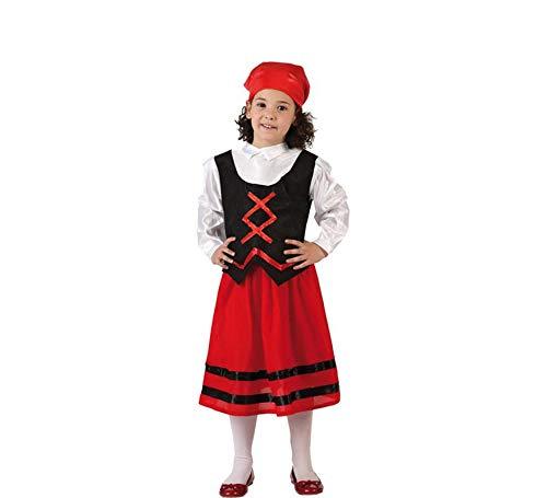 Atosa-32143 Disfraz Pastora Nia Infantil-T, Color Rojo, 3 a 4 aos (32143)