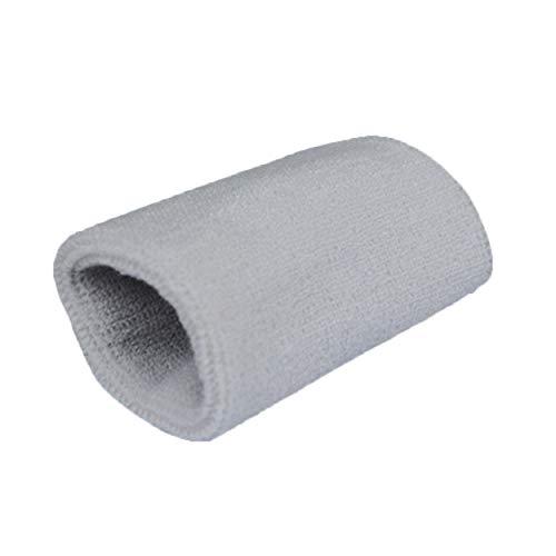 1pc Armbänder Sport Sweatband Handband Sweat Wrist Support Brace Wraps Wachen für Fitnessstudio Volleyball Basketball Teennis Hot - Grey