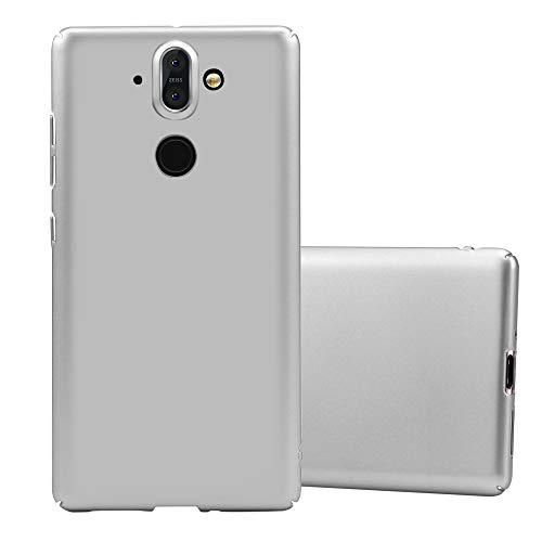 Cadorabo Hülle für Nokia 8 Sirocco in Metall Silber - Hardcase Handyhülle aus Plastik gegen Kratzer & Stöße - Schutzhülle Bumper Ultra Slim Back Hülle Hard Cover