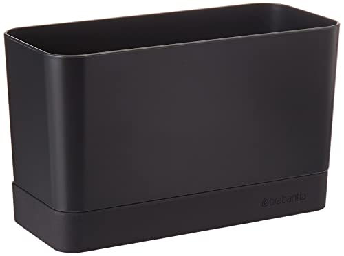 Brabantia Sink Side Organizer per Lavello, Dark Grey, 8.5 x 19 x 11.5 cm