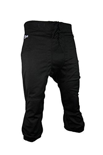 Tag Fußballhose für Jugendliche, mit Schlitzen, Größe XL, Taille 78,7 cm, Schwarz
