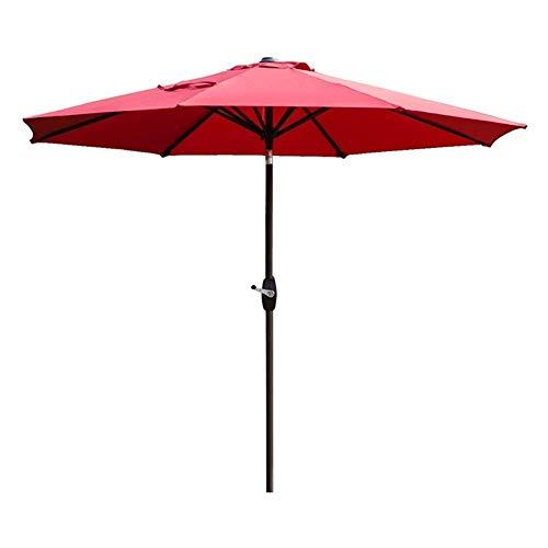 LY88 Parasols 2.7M Outdoor Tuin Patio Paraplu UV70+, Crank En Kantelen, Zon Schaduw Voor Buiten Markt Terras Deck Yard Of Zwembad Zijde