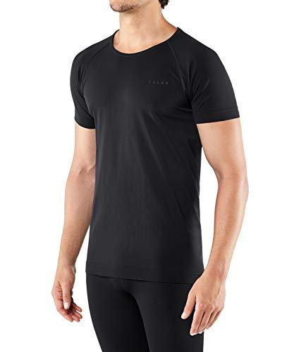 FALKE Herren Kurzarmshirt, Warm Short Sleeve Comfort Fit - Funktionsfaser, 1 Stück, Funktions Unterwäsche zum Sport, versch , Schwarz (Black 3000) , L