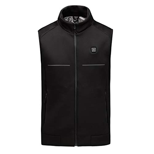 Fantastic Prices! Seaintheson Men's Electric Heated Vest,Winter Warm Washable Heated Soulder Back Wa...