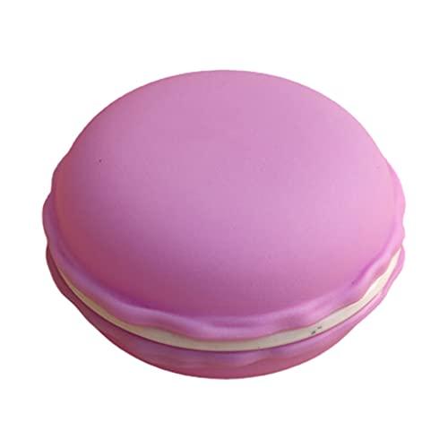 Folewr - Custodia a forma di macaron gigante, colorata, contenitore per pillole, orecchini, orecchini, anelli, collane, da viaggio, organizer per gioielli, regali