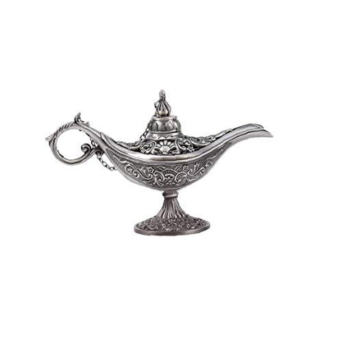 lulongyansf Lmpara de los genios vaporizador de Metal Artes Ornamento de los Artes de la Vendimia Aladdin para la Tabla Inicio Boda decoracinCasa jardinera