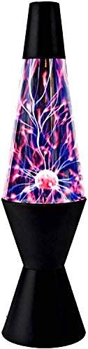 The Glowhouse La Lampe à Plasma Foudre Rocket Lava Style des Effets spéciaux Interaction Lampe (37cm h)