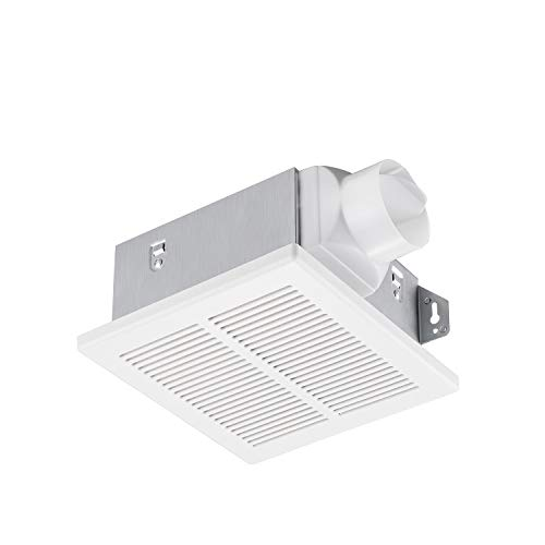 Tech Drive Bathroom fan 50 CFM, 1.0Sone DC Motor with No Attic access Needed Installation,Very Quiet Ventilation and Exhaust Fan, Ceiling Mounted Fan, White
