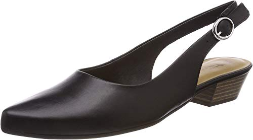 Tamaris Damen 29400 Slingback Sandalen, Schwarz (Black Leather), 37 EU