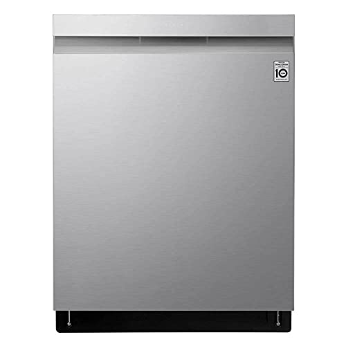 LG 24' PrintProof Stainless Steel Top Control Smart Wi-Fi Enabled Dishwasher With QuadWash And TrueSteam