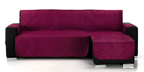 JM Textil Couvre Canapé d´Angle Matelassé Alvin, Angle à Droite, Taille 200cm, Couleur Mauve