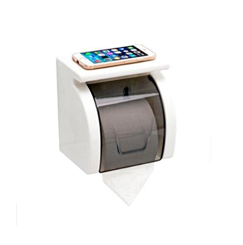 PLYY Toilettenpapierkasten Toilettenpapierrolle Rollenpapierhalter Sauger-Halter Frei Bohren Wasserdichte Box Toilettenpapiergewebe, Waterproof Roll Holder