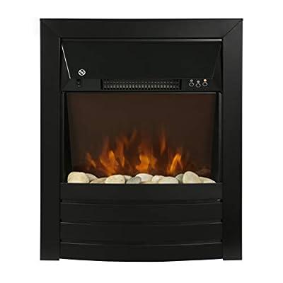 Zanussi ZEFIST1003B 2KW Black Electric Inset Fire Stove, 2000 W