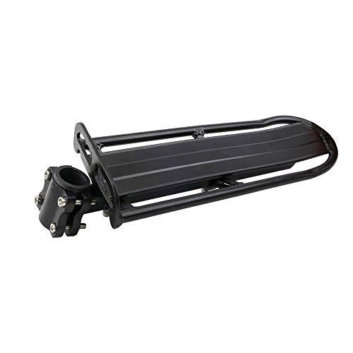 PrimeMatik - Portaequipajes metálico trasero para bicicleta fijación tubular y ajustable