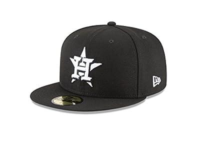 New Era 59Fifty Hat MLB Basic Houston Astros Black/White Fitted Baseball Cap