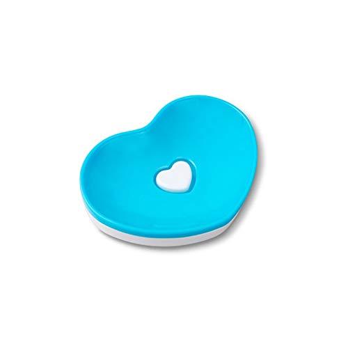 Dabeigouzfeizh El Plato de jabonera se Puede Colocar en la Caja de Drenaje de la Cocina y el baño de Doble Capa de Doble Capa. (Color : Blue)