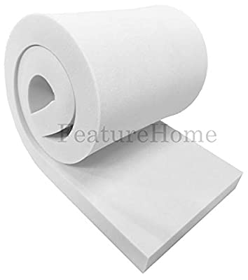 """Feature Home Medium Density Foam Upholstery Sheet - 60"""" x 20"""" (152.4 cm x 50.8 cm) - ALL THICKNESSES from Feature Home"""