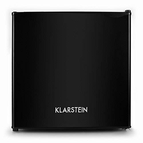 Klarstein Spitzbergen - Frigorifero, Classe Energetica A+, Vano Freezer, ZestfulART Design: Sportello Scrivibile con Pennarello incl, 2 Vani sullo Sportello, 40 L, Nero