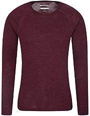 Mountain Warehouse Camiseta térmica interior de lana merina con manga larga para hombre - Camiseta ligera, camiseta antibacteriana de secado rápido, Invierno