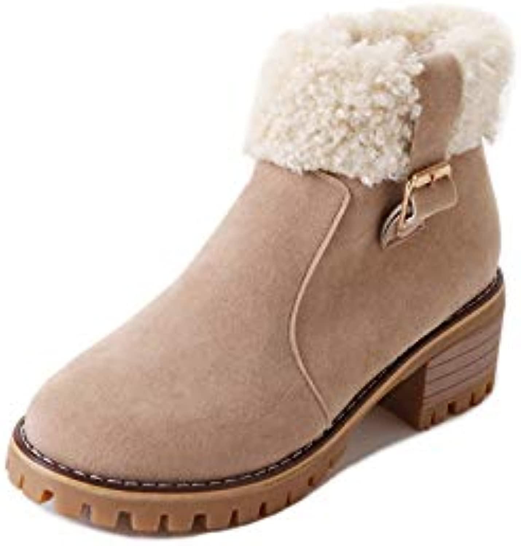 HOESCZS Frauen Frauen Schuhe Herbst Und Winter Frauen Stiefel Bequeme Mode Wild Dick Mit Hochhackigen Mode Martin Stiefel Warme Mode  70% günstiger