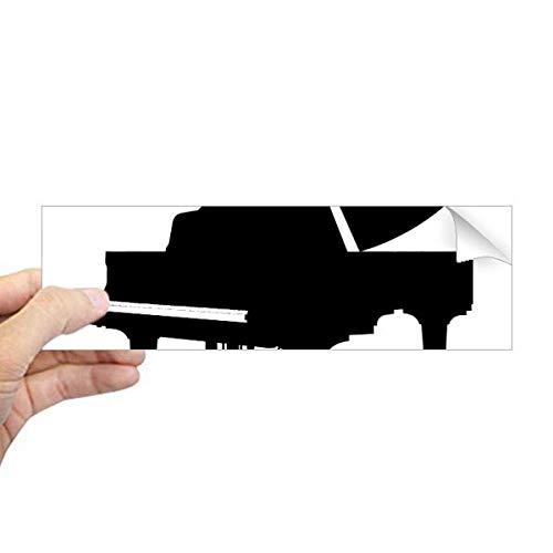 DIYthinker Piano Klassieke Muziek Instrument Patroon Rechthoek Bumper Sticker Notebook Window Decal