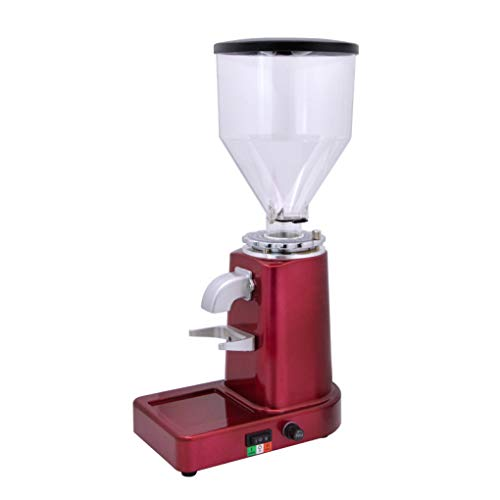 Preisvergleich Produktbild ALYR Elektrische Kaffeemühle,  Hauskaffeemühle,  Mahlscheibe 20 Grob- / Feineinstellungen, red_ 23 * 14 * 43cm
