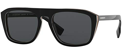 Burberry 0BE4286 Black Multilayer Check/Polarized Grey One Size
