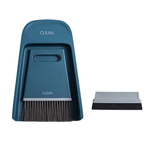 TOPBATHY Dustpan and Brush Mini Hand Brush and Dustpan Set Tiny Cleaning Brush Dustpan and Brush Set for Table Desk Worktop Keyboard Pet (White), PP + PBT + EV, Image 1, 19,5 * 13,8 cm