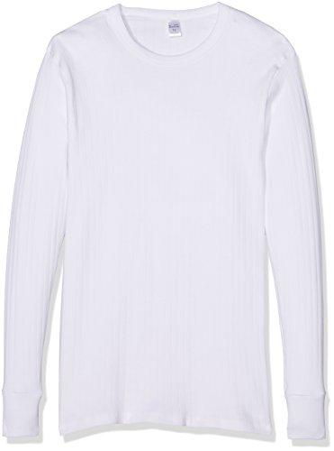 Abanderado Camiseta M/L Niã±o Algodon Inv Manga Larga, Blanco, 16 anos para Niños
