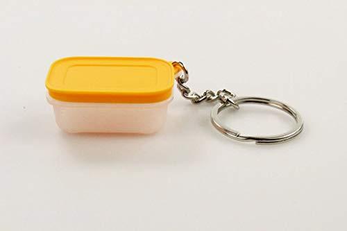 TUPPERWARE Schlüsselanhänger orange Eis-Kristal Miniatur Anhänger