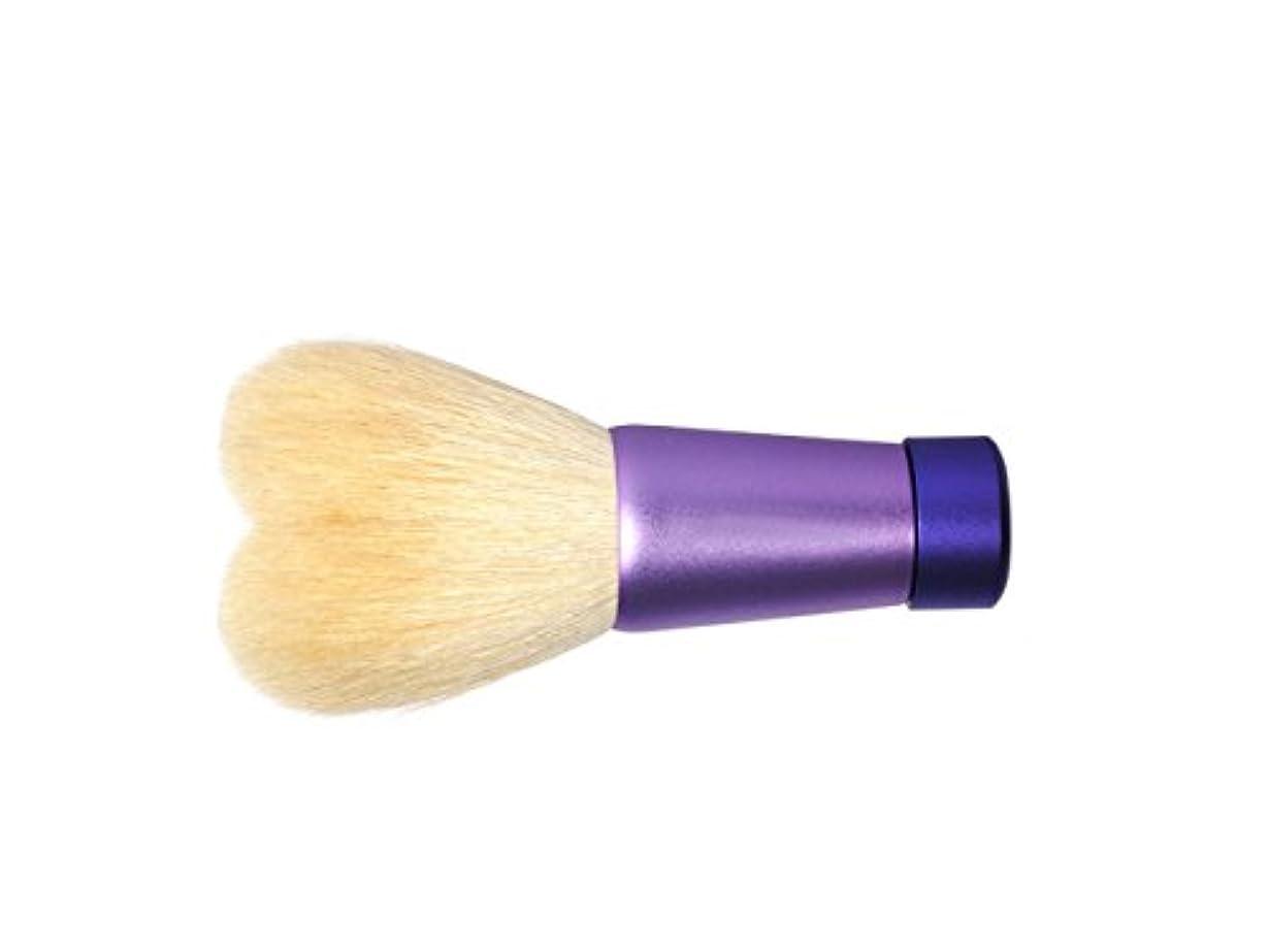 あさり朝ごはん座標明治四十年創業 文宏堂 熊野筆 ハート型洗顔ブラシMW2-HN4VB 山羊毛?ポリエステル使用 名入れあり
