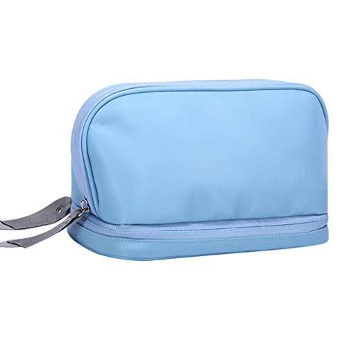 Trousses à Maquillage Sac Cosmétique Portatif Sac De Rangement De Voyage Multifonctionnel Imperméable Sac Suspendu Sac À Main Grande Capacité (Color : Blue, Size : 23 * 11.5 * 13.5cm)