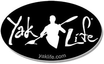 Oval Black Yak Life Sticker (Kayak Kayaking Kayaker Paddle)