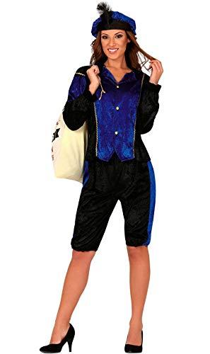 Guirca Disfraz de PAJE Real Azul para Mujer