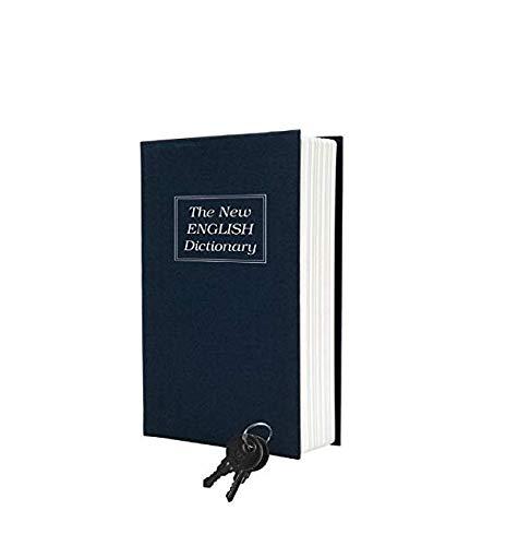 Gwill Diccionario Inglés en forma de libro seguro bloqueo dinero monedas ahorro banco caja de almacenamiento con llaves decoración de escritorio para niños regalo de Navidad cumpleaños