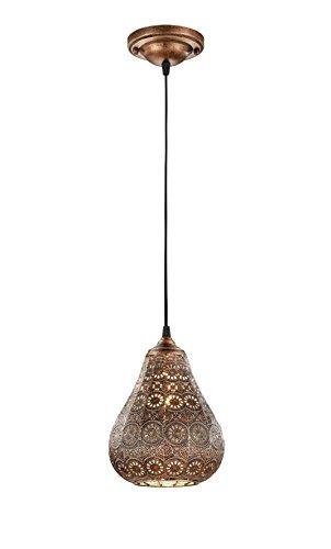 Trio Leuchten LED Pendelleuchte Jasmin 303700162, Metall kupferfarbig antik, exkl. 1x E14