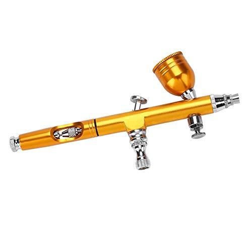 Pistola aerógrafo de gravedad, pistola de pulverización, arte tatuaje, pintura de uñas, decoración de tartas, 0,2 mm [dorado], aerógrafo, accesorios de aerografía, pintura