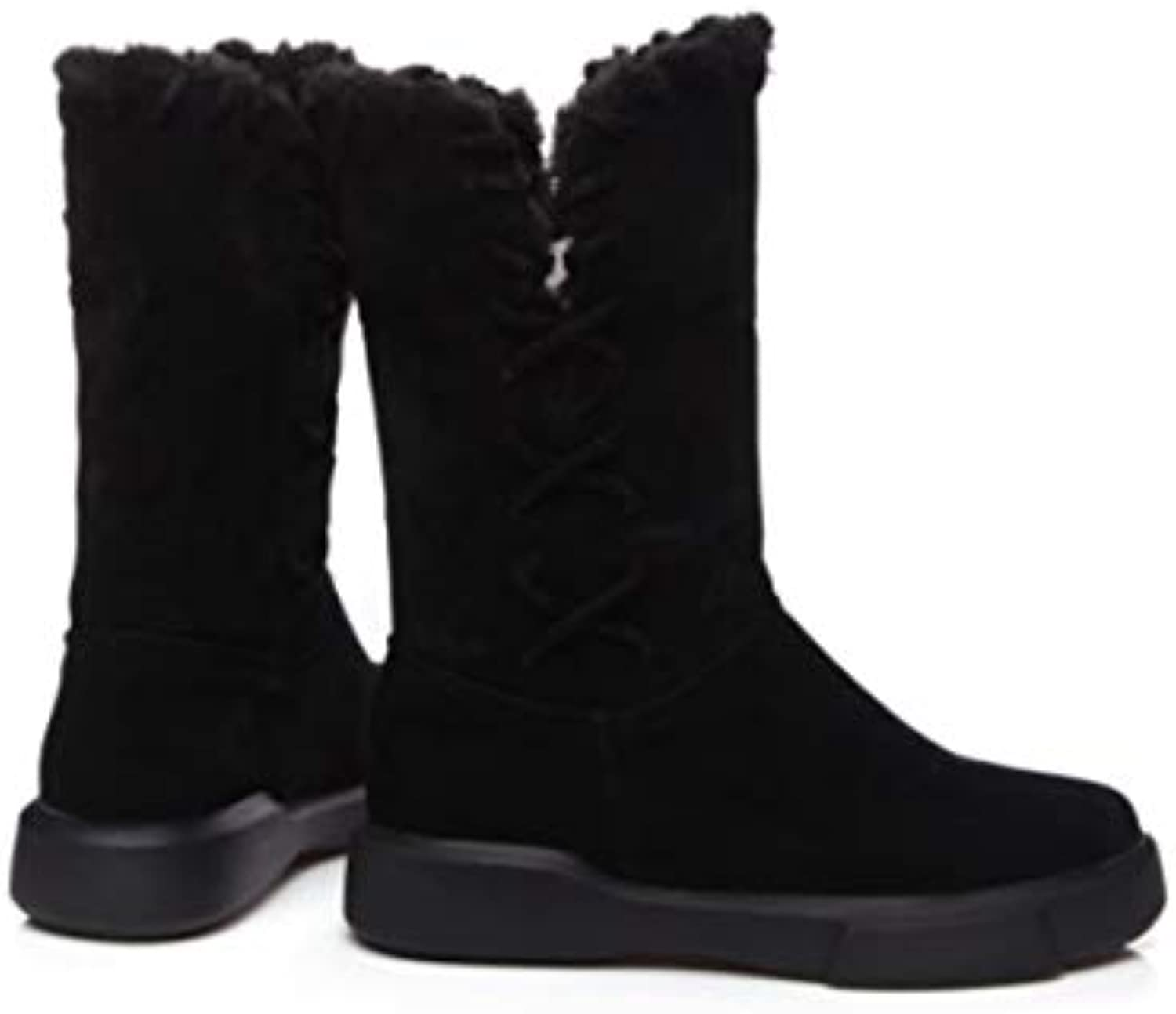BBNL-Q DDL- Snow Boots Snow Boots 2018 Size 34-43 Women Boots Heels Slip-On Round Toe Office Lady shoes Woman Winter Boots Black Green SB182