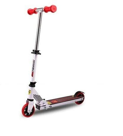 FERRARI Patinete infantil Kick Push con 2 ruedas, 100 mm, color blanco