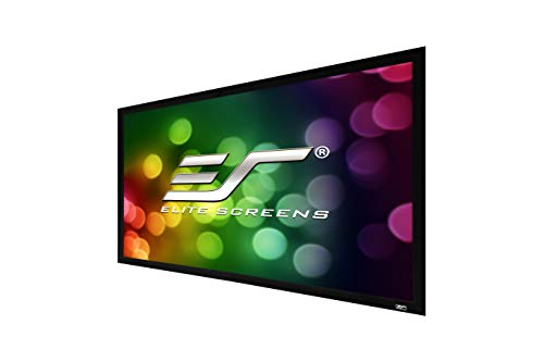 Elite Screens Sable Frame 2 Series, 110-inch Diagonal 16:9, Active 3D 4K Ultra HD Ready Fixed Frame Home Theater Projection Projector Screen, ER110WH2