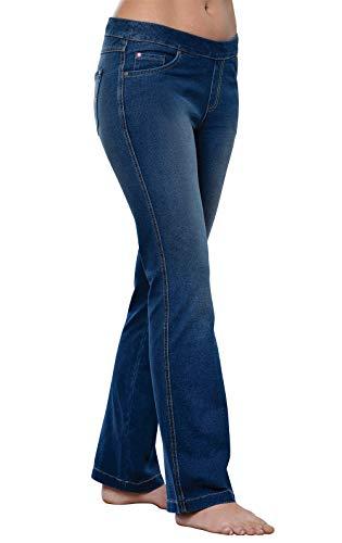 PajamaJeans Womens Pull On Jeans - Women's Bootcut Jeans, Bluestone, M