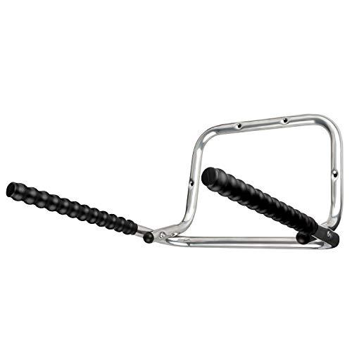 URBAN ZWEIRAD Fahrrad-Wandhalterung - klappbare Fahrradhalterung - platzsparende Fahrradhalterung mit extra-starkem Rahmenschutz (Silber)
